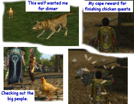 You can play a chicken in LOTRO now