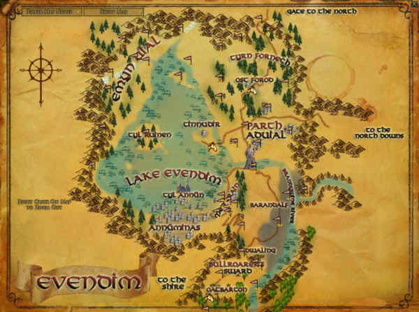 Lotro has a new area called Evendim