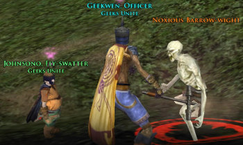 Having fun killing enemies in LOTRO with a friend