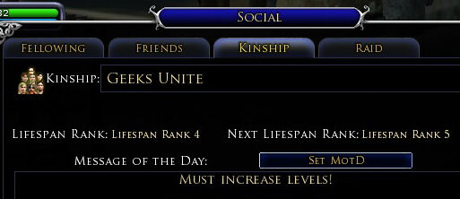 Starting a kinship with a friend in Lord of The Rings Online