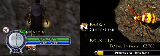 Level 50 minstrel and rank 7 weaver in LOTRO